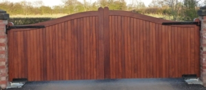 Gates in iroka with a clear varnish finish